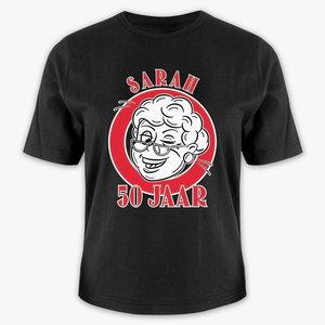 T-shirt Sarah 50 jaar