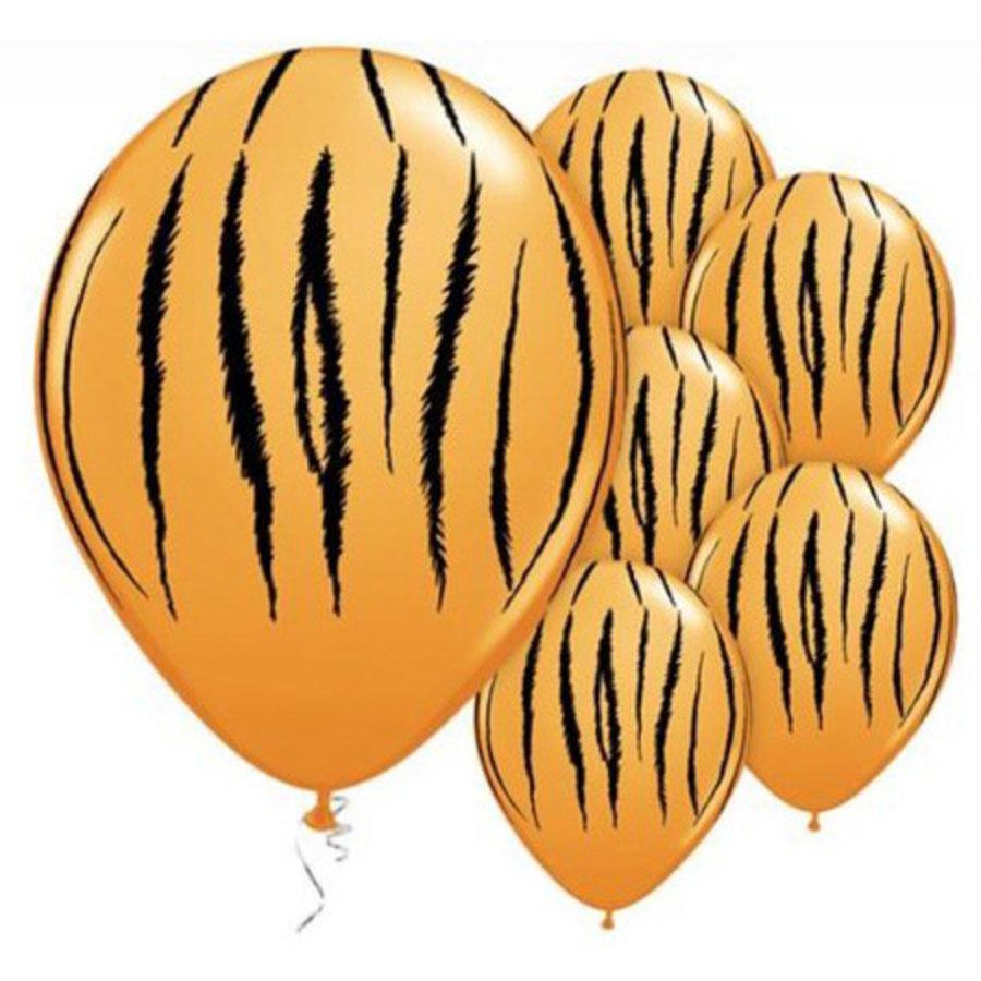 Ballon Tijger Qualatex 6 stuks