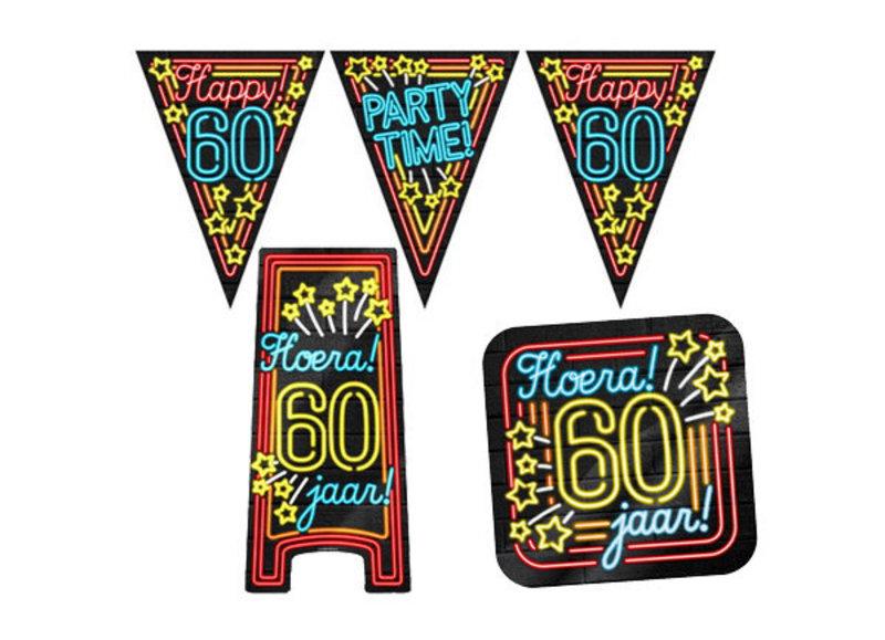 60 jaar neon party