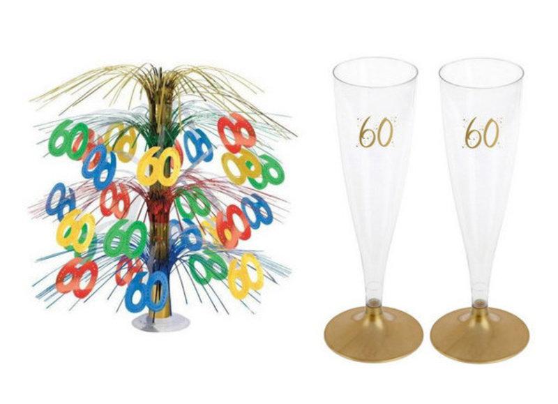 60 jaar tafeldecoraties
