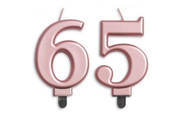 65 jaar taartkaarsjes