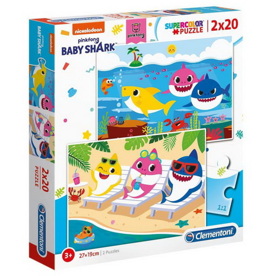 Baby Shark Puzzels 2 stuks