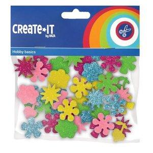 Foam stickers glitter bloemen 25 stuks