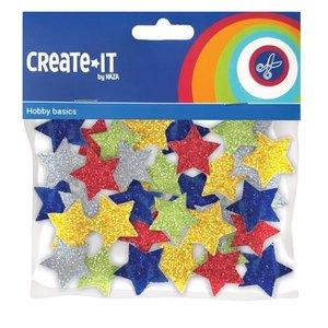 Foam stickers glitter sterren 54 stuks