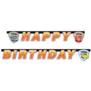 Letterslinger Cars Happy Birthday