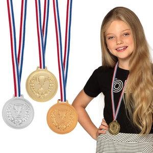 Medaille goud zilver brons 3 stuks