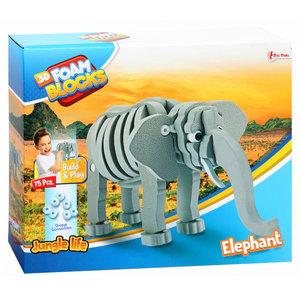 3D Constructiefoam Olifant