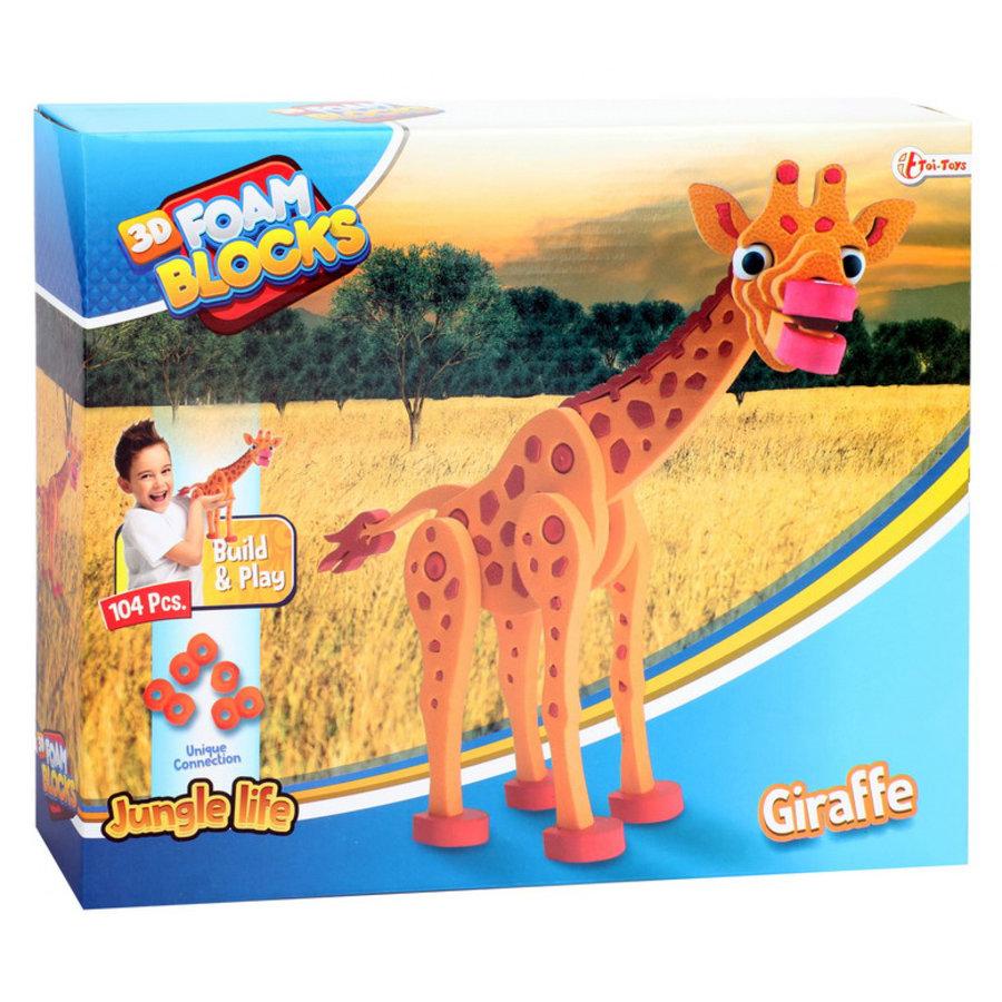 3D Constructiefoam giraffe
