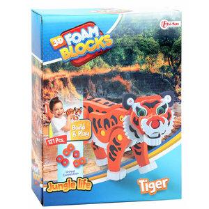 3D Constructiefoam tijger