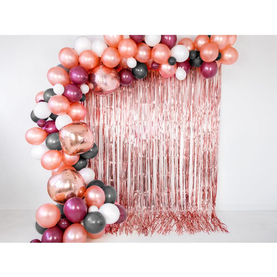Ballonnen metallic rosé goud 20 stuks