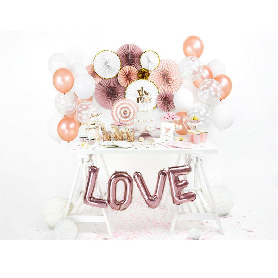 Ballonnen metallic rosé goud 100 stuks