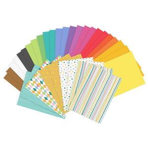 Knutselpapier gekleurd en met print 34 stuks