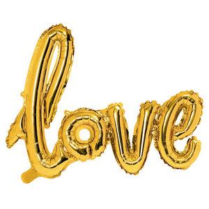 Folieballonnen LOVE goudkleurig