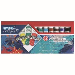 Acrylverf 12 tubes mat