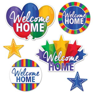 Decoraties Welcome Home stars 6 stuks