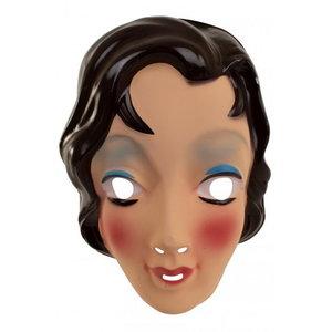 Masker Sarah jong met donkerbruin haar