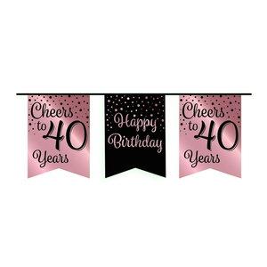 Vlaggenlijn 40 jaar rosé-zwart