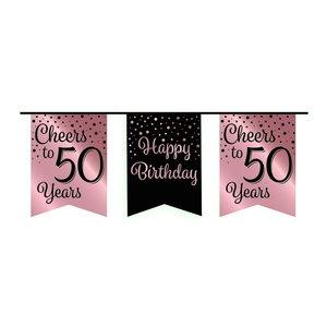 Vlaggenlijn 50 jaar rosé-zwart