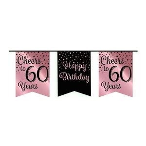 Vlaggenlijn 60 jaar rosé-zwart