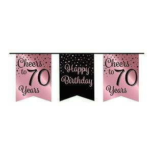 Vlaggenlijn 70 jaar rosé-zwart