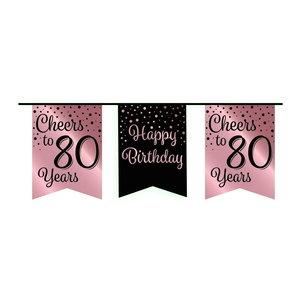 Vlaggenlijn 80 jaar rosé-zwart