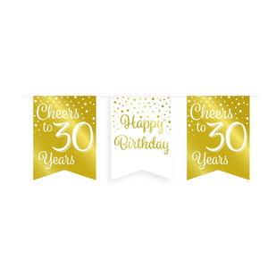 Vlaggenlijn 30 jaar goud-wit