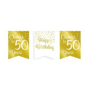 Vlaggenlijn 50 jaar goud-wit
