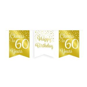 Vlaggenlijn 60 jaar goud-wit