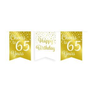 Vlaggenlijn 65 jaar goud-wit