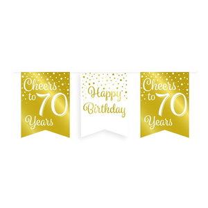 Vlaggenlijn 70 jaar goud-wit