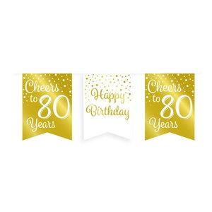 Vlaggenlijn 80 jaar goud-wit