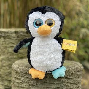 Pluche knuffel gekleurde pinguin 24cm