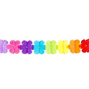 Slinger bloemen gekleurd 4 meter
