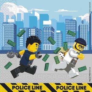 Servetten Politie Lego City 20 stuks