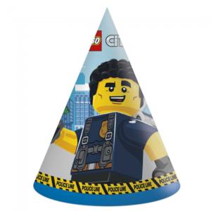 Hoedjes Politie Lego City 6 stuks