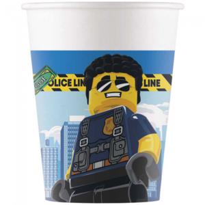 Bekertjes Politie Lego City 8 stuks