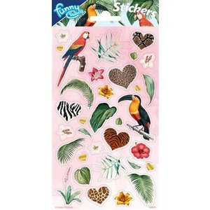Stickers Jungle birds en Jungle figuren 34 stuks
