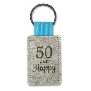 Sleutelhanger 50 jaar and Happy
