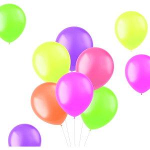 Ballonnen neon gekleurd 10 stuks 30cm