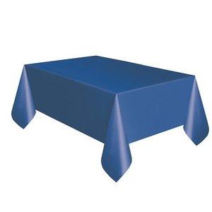 Tafelkleed donkerblauw plastic