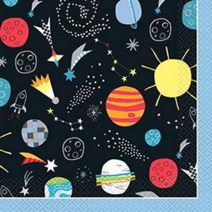 Servetten Space figuren 16 stuks