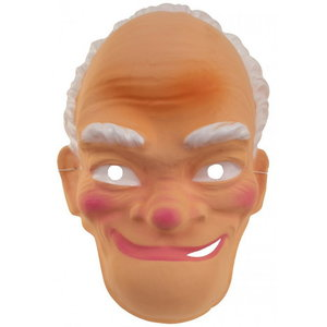 Masker Abraham oud met wit haar