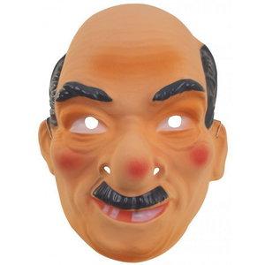 Masker Abraham oud met donkergrijze snor