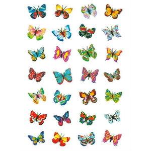Stickers Vlinders met glitter 28 stuks