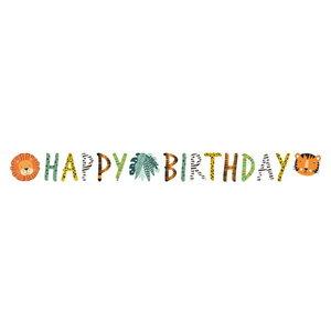 Letterslinger safari dieren Happy Birthday