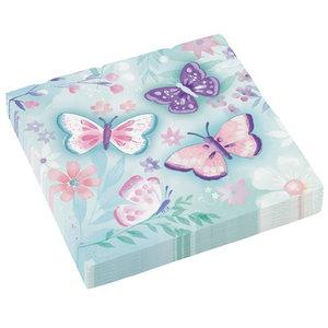 Servetten vlinders 16 stuks