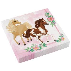 Servetten paarden beautiful horses 20 stuks