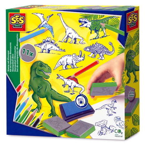 Stempelset Dinosaurus 24-delig