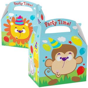 Partybox Jungle dieren 8 stuks