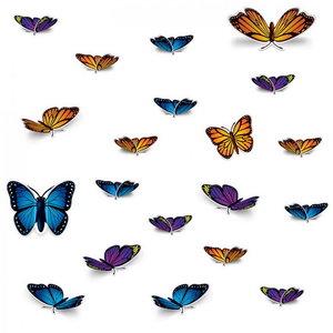 Decoratie vlinders luxe 20 stuks